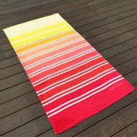 Cheap Gradient Multi Color Printed Beach Towels Comfortable Touch Surface for sale