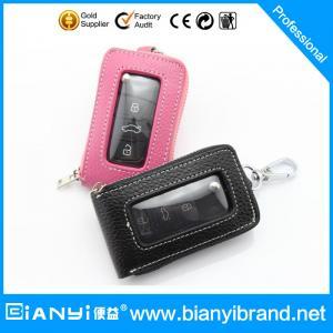 Best 2015 Wholesale car logo leather key case/ key bag /keychain holder with hooks wholesale