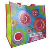 Supermarket colorful 120gsm handy recyclable PP woven shopping bags