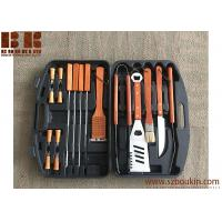 Best Barbecue Set with Wooden Handles in Carrying Case, Barbecue Grill Set, Outdoor Grill Set wholesale