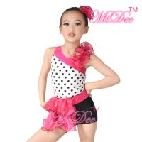 Best Children'S Dance Costumes Black Polka Dots Top Biketard Ballet Dance Costume wholesale