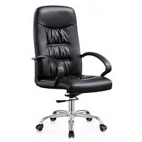 Best High End  Leather Rolling Desk Chair , Stationary Swivel Office Chairs With Wheels wholesale