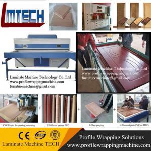 China pvc mdf interior door vacuum membrane press machine on sale