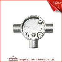 China White Malleable Pipe Fittings 3 Way Junction Box 32mm 40mm For BS4568 GI Conduit on sale