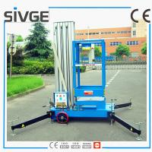 10m Single Mast Blue Aerial Working Platform Aluminium Alloy With 120kg Load