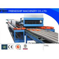 Best Automatic Continuous PU Sandwich Panel Production Line For 25mm - 100mm Thickness PU Foam wholesale