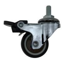 China Threaded Stem Coffee Color Swivel Caster Wheels For Industrial Equipment on sale
