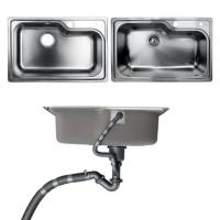 China Undermount Kitchen Bathroom Sinks With Single Bowl Brushed Metal Material on sale