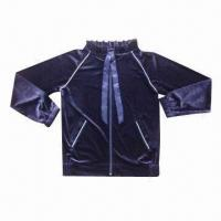 Buy cheap 260gsm Velvet Cardigans, Made of 100% Polyester, Suitable for Women from wholesalers