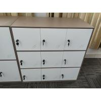 Best KD structure 9 door metal clothes locker furniture  white coffee color wholesale