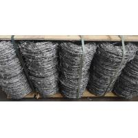 China Electro Galvanized Normal Twisted Barbed Wire Security 12# X14# For 20 KG/ROLL on sale