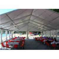 China Hard Pressed Circus Play Tent White PVC Cover Church Windows For Beach Party on sale