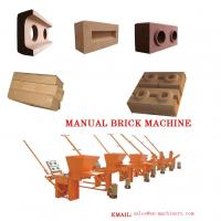 Best Clay Block Machine 2-40 Moulds Manual Brick Making Machinery for sale Machine wholesale