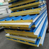 China 50mm A grade fire rating glass wool insulated sandwich roof panel use 20ft container house on sale