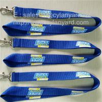 China Promotional coloured polyester id card holder lanyard with imprinted logo, on sale