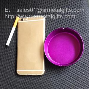 China Colored anodized aluminum smoking cigar ashtrays wholesale on sale