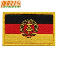 China International  Embroidered Country Flag Patches Hook And Loop Backing on sale