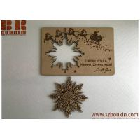 Best Christmas cards Personalised wooden greeting cards Wood snowflake card Christmas gift wholesale