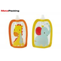 Best BPA Free Spout Pouch Refillable Baby Food Squeeze Pouch With Spout Special Shape wholesale