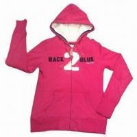 Buy cheap Women's Pullover, 100% Cotton Brushed Fleece 300gsm from wholesalers
