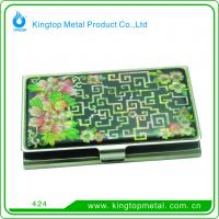 China Elegant metal business card case on sale