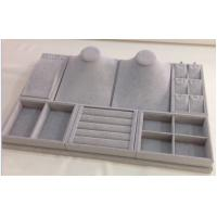 Best Durable Jewelry Showcase Display Sets Grey Velvet Tray With 3 Years Warranty OEM wholesale