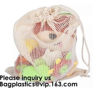Best Cotton Packing Bags For Fruit & Vegetables, Organic Cotton Mesh Bags, Drawstring Cotton Net Bags, bagease, bagplastics wholesale