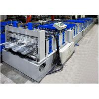 China Metal Deck Roll Forming Machine , Floor Tiles Manufacturing Machines Fully Auto on sale