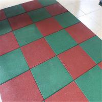 China Solid color recycled rubber flooring tile playground outdoor park mat on sale