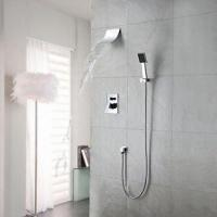 Best Waterfall in-wall mount square brass shower mixer tap, CE certified  wholesale