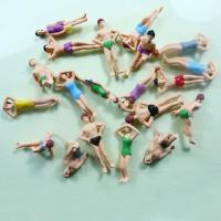 Best HO Scale 1:75 Painted Architectural Scale Model People Beach Swimming Figures Vary Pose wholesale