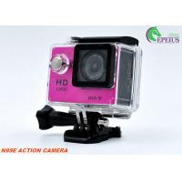 1080P HDMI 4k Helmet Mounted Camera , N9 Water Resistant Action Digital Camera 900mAh