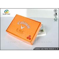 Foldable Orange Cardboard Gift Boxes For Clothes / Candy / Chocolate