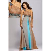 China Customize one-shoulder chiffion formal dresses evening dress E1099 on sale