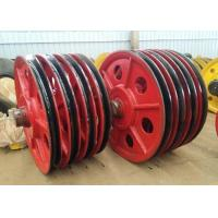 China Wear Resistance Stainless Steel Wire Rope Sheaves , Wire Rope Pulley Wheels on sale