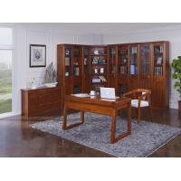 Best Nanmu solid wood Home office study room furniture set by Tall storage bookcase cabinet and office reading desk Chair wholesale