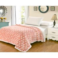 Best Heart Shaped Flannel Sheet Blanket , Sherpa Fleece Heavy Flannel Blanket wholesale