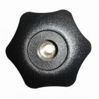 China Knob with Through Hole, Made of PA/Fiberglass, Injection Molding and Brass Insert on sale