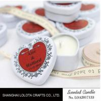 Best Heart Shaped Travel Tin Soy Candles With Red Printing Logo / One Cotton Wick wholesale