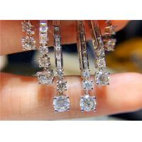 Best High End Personalized 18K White Gold Diamond Earrings For Women wholesale