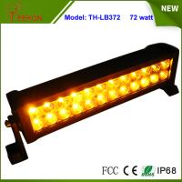 Best Amber and White Color 13.5 inch Epistar LED Strobe Light Bar 72W Flash Lamp for Sale wholesale