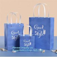 China Custom made luxury kraft paper bag in colour/kraft paper bags colorful paper carrier bag/coloured recycled paper packagi on sale