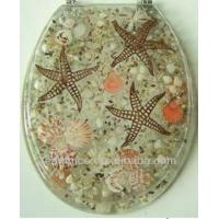 China polyresin toilet seat covers sea star cute toilet seat on sale