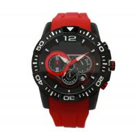 China Multifunction Red Silicone Strap Watches Sport Wrist Watch OEM on sale