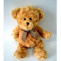 Best Cute Plush Toys for baby, Lovely Bear Plush with Check bow-tie. wholesale