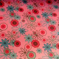 China 100% Polyester Taffeta Fabric, Printed Flowers, Smooth, Suitable for Garment Lining on sale