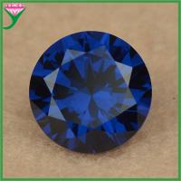 Best wholesale prices AAAA round blue synthetic sapphire gemstone spinel, spinel gemstones wholesale