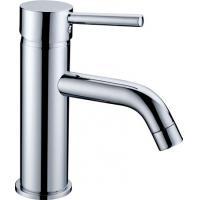 China Wash Hand Chrome Plated Single Lever Mixer Taps / Single Hole Lavatory Faucet on sale