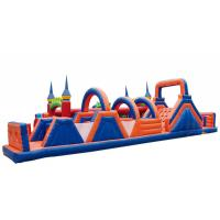 China Waterproof Inflatable Fun City Castle Obstacle Course Blow Up Playground Enviroment - Friendly on sale