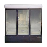 China White / Black 3 Glass Door Commercial Refrigerator Freezer With Large Display Volume on sale